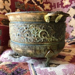 Other - Rustic Decorative Metal Container
